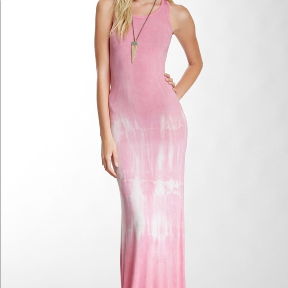 f85983f1ea52 American Twist Dresses   Skirts - American twist tie dye pink fitted maxi  dress med